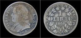 Italy Vatican City 1 Lira 1866R - Vaticano (Ciudad Del)