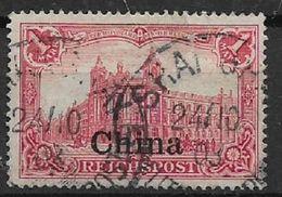 GERMANIA REICH UFFICI IN CINA 1900 SOPRASTAMPATO YVERT. 18  USATO VF - Bureau: Chine