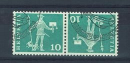 SUISSE 1960  Tete Bêche YT 644a Oblitérés  // LOT A - Se-Tenant