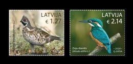 Latvia 2020 Mih. 1106/07 Fauna. Birds. Hazel Grouse And Kingfisher MNH ** - Lettland
