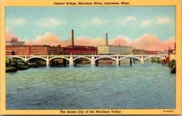 Massachsuetts Lawrence Central Bridge Merrimac River Curteich Curteich - Lawrence