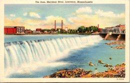 Massachsuetts Lawrence The Dam Merrimac River Curteich Curteich - Lawrence