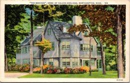 "Massachsuetts Northampton ""The Beeches"" Home Of Calvin Coolidge 1934 Curteich - Northampton"