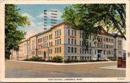 Massachsuetts Lawrence High School 1940 Curteich - Lawrence