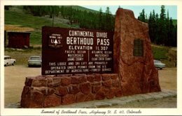 Colorado Summit Of Berthoud Pass Highway U S 40 Marker 1965 - Etats-Unis