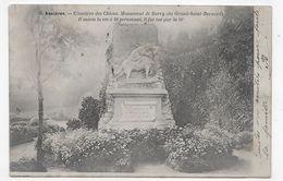 (RECTO / VERSO) ASNIERES EN 1903 - N° 8 - CIMETIERE DES CHIENS - MONUMENT DE BARRY - CPA PRECURSEUR VOYAGEE - Asnieres Sur Seine