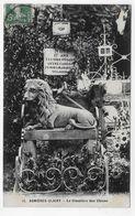 (RECTO / VERSO) ASNIERES CLICHY EN 1911 - N° 13 - CIMETIERE DES CHIENS - CPA VOYAGEE - Asnieres Sur Seine