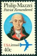 UNITED STATES OF AMERICA AIR MAILS, 1980 WRITER PHILIP MAZZEI** (MNH) - Poste Aérienne