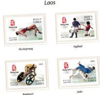 Laos 2008 Olympic Games Beijing 4 Stamps MNH/** (H62) - Ete 2008: Pékin