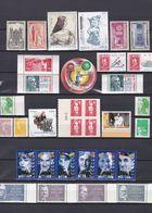 FRANCE 33 LOTS TIMBRES NEUFS**&* + SANS GOMME DE 1944 à 2015         Cote : 61,90 € - Unused Stamps