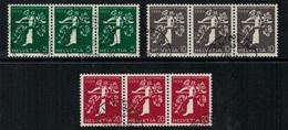 Suisse // Schweiz // Switzerland // Se-Tenant // Exposition Nationale Zurich 1939  No.Z25a-Z26a-Z27a Oblitéré D/F/I - Se-Tenant