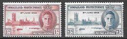 Somaliland Protectorate 1946 SG 117-8 Victory ** Mnh - Somaliland (Protectorate ...-1959)