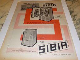 ANCIENNE PUBLICITE CHOISIR REFRIGERATEUR SIBIR  1958 - Advertising