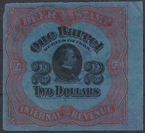 US 1898 $2 1 BARREL BEER REVENUE STAMP #REA63 VFU - Revenues