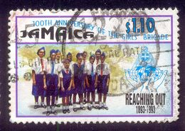 JAMAICA 1.1.$ USED STAMP 56774 GIRLS BRIGADE REACHING OUT - Jamaica (1962-...)
