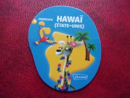 Magnet Brossard Savane Hawaï Etats-Unis USA Honolulu Girafe Perroquet Parrot Loro Giraffe Jirafa Giraffa Palmier Palm - Tourismus