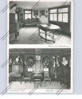 7142 MARBACH, Schillers Geburtshaus, NS-Symbole, 1937, Bahnpost, Rücks. Klebereste - Marbach