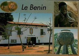 LE BENIN..3 VUES...CPM ANIMEE - Benin