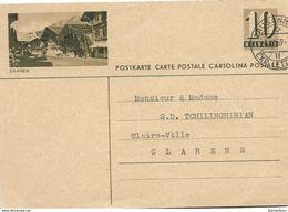 "207 - 78 - Entier Postal  Avec Illustration ""Saanen"" Cachet à Date Lausanne 1959 - Postwaardestukken"