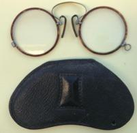 PINCE-NEZ BINOCLE LUNETTE + ETUI - Brillen