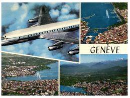 (A 37) Switzerland - Geneva With Airplane / Avion - Avions