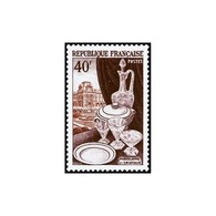 Timbre N° 972 Neuf ** - Métiers D'Art. Porcelaine, Cristaux Et Le Louvre. - France