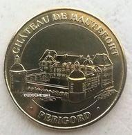 Monnaie De Paris 24.Hautefort - Le Chateau De Hautefort 2008 - Monnaie De Paris