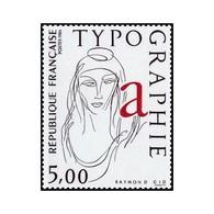 Timbre N° 2407 Neuf ** - La Typographie. Figure Allégorique. - France
