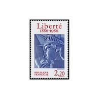 Timbre N° 2421 Neuf ** - Centenaire De L'érection De La Statue De La Liberté à New York. Tête De La Statue. - France