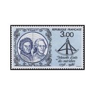 Timbre N° 2428 Neuf ** - 250ème Anniversaire Des Mesures D'arcs De Méridien En Laponie. - France
