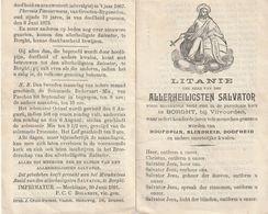 Litanie, H. Salvator, Borght, Vilvoorden, Vilvoorde, Groot-bijgaarden, Mechelen, Londerzeel, Heindonk, Beersel, 2 Scans - Religion &  Esoterik