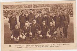 Rode Duivels Uit 1936 Na Overwinning Tegen Engeland (Uitgifte : Lecocq) - Football