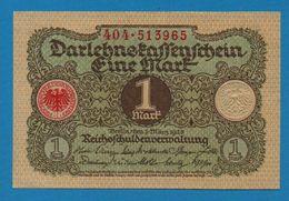 DEUTSCHES REICH 1 MARK 01.03.1920  # 404.513965   P# 58  DARLEHENSKASSENSCHEIN - [ 3] 1918-1933 : República De Weimar