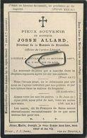 Josse Allard : Directeur De La Monnaie Bruxelles :  Uccle  1805 - 1877    (  See Scans ) - Devotion Images
