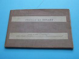 """ Feuille XX, > DINANT "" Kaart Op Katoen / Linnen / Cotton - Institut Cartograph Militaire 1907 ( J. Van Wichelen ) ! - Cartes Géographiques"