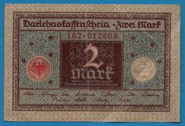 DEUTSCHES REICH 2 MARK 01.03.1920  # 167.012606   P# 60  DARLEHENSKASSENSCHEIN - [ 3] 1918-1933 : República De Weimar