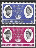 Cayman Islands, 1966, SG 192/93, MNH ** - British Virgin Islands