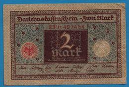 DEUTSCHES REICH 2 MARK 01.03.1920  # 239.497464   P# 60  DARLEHENSKASSENSCHEIN - [ 3] 1918-1933 : República De Weimar