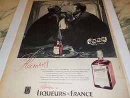 ANCIENNE PUBLICITE FLAMMES LIQUEUR COINTREAU 1958 - Alcools