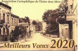 Association Cartophile De L' Entre Deux Mers Meilleurs Voeux 2020 Floirac La Souys Route De Latresne - Bourses & Salons De Collections