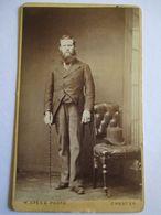 CDV Photo De W. Speed à CHESTER (R.U) - Homme Debout - Grande Barbe - Canne - Circa 1875 - TBE - Foto