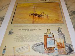 ANCIENNE  PUBLICITE MARTELL DRY PALE VUE PAR JEAN MARSAC 1958 - Alcools