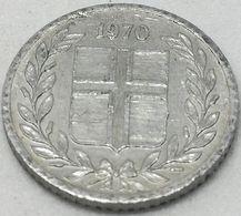 Moneda 1970. 10 Aurar. Islandia. KM 10a. MBC - Islande