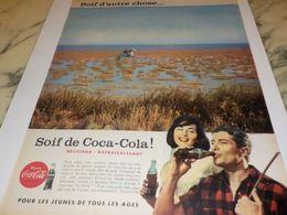 ANCIENNE PUBLICITE SOIF D AUTRE CHOSE SOIF DE  COCA COLA 1958 - Manifesti Pubblicitari