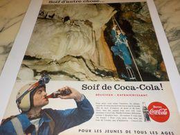 ANCIENNE PUBLICITE SOIF DE  COCA COLA 1958 - Manifesti Pubblicitari