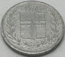 Moneda 1974. 10 Aurar. Islandia. KM 10a. MBC - Islande
