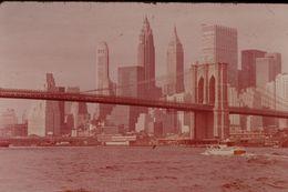 Photo Diapo Diapositive Slide ETATS UNIS N°1 New York Pointe De Manhattan VOIR ZOOM - Diapositives