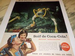 ANCIENNE PUBLICITE SOIF D AUTRE CHOSE SOIF DE  COCA COLA 1958 - Poster & Plakate
