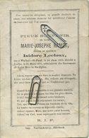 Marie Ramet :  Walhain-st-Paul 1839 -  Ixelles 1877      (  See Scans ) - Images Religieuses
