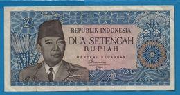 INDONESIA REPUBLIK  2½ Rupiah 1964 # EH 470760 P# 81b Achmed Sukarno - [11] Emisiones Locales